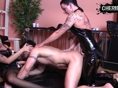 My huge amateur dick vid shows me in a lusty threesome
