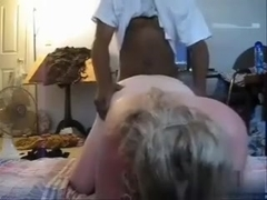 I am an amateur blonde chubby who likes fucking black dudes more than anything. This clip shows me.