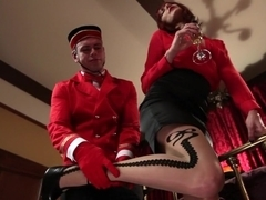 Crazy fetish porn video with best pornstars Maitresse Madeline Marlowe and John Jammen from Footworship