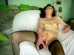 Teasing my darksome brown mother i'd like to fuck wife with hot candle wax as this honey masturbat.