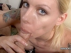 Perfect blowjob from my busty blonde