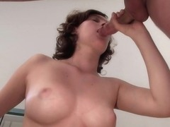 Teen fucked and left creamy in her fuck hole