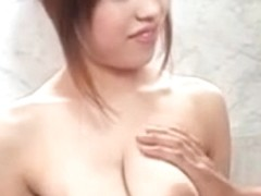 Uncensored busty Japanese in the shower
