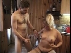 Unshaved breasty russian hotty acquires drilled