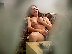 Voyeur clip of a hoe toying her muff