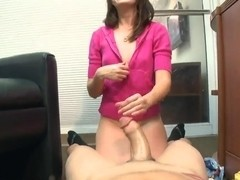 Nice girl Alexa James makes good blowjob on the casting