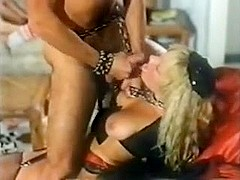 Vintage orgy with slut s in stockings getting facials