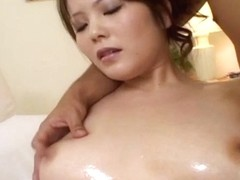 Sayaka Minami has body oiled and mouth and crack fucked