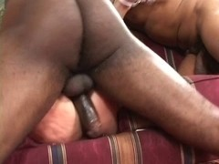 Golden-Haired sweetheart getting dark schlongs to fuck
