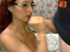 Perfect milf facial
