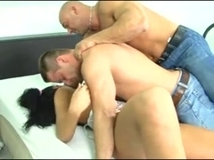 2 Hot Guys Fuck A Chick And Each Other