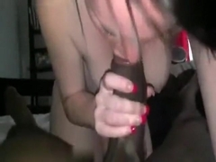 White girl with freckles loves big black cocks