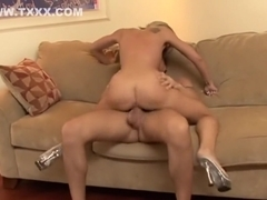 Fabulous pornstar Amy Brooke in crazy blonde, swallow adult clip