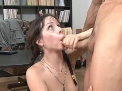 Sexy student Lindy Lane hard bangs her english teacher