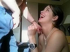 I have a delightful face, which is why I made this non-professional oral-job movie scene with my b.