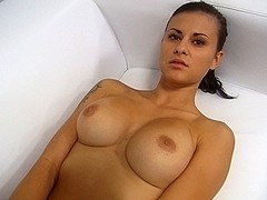 Breathtaking Large Melons Brunette Hair PornJob Interview