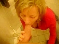 Blonde GF giving blowjob and anal drill
