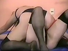 Retro milfs Catfight