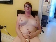 Lady gets herself off then takes a load in her mouth