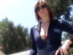 Black fucker goes lady cop