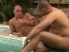 Double fucking in the pool