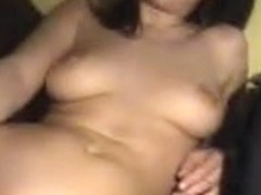 Incredible amateur slut with plump tits toys her holes
