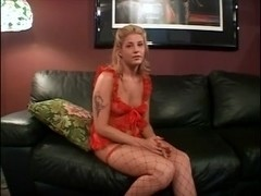 hawt golden-haired in fishnets acquires fine anal and facial