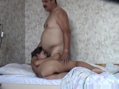 Keeping her sugardaddy happy with her girlage pussy !!!