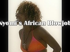 Nyomis African interracial Oral Pleasure