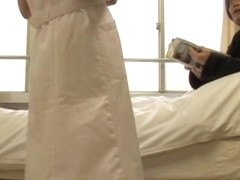 Naughty nurse gets dicked and creampied by her patient
