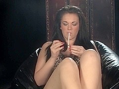Alexa Shore smoking while masturbating