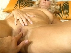 Horny milf does her first blowjob in dirty sex movie