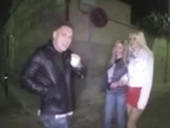 DZ AMAZING BLONDE SLUT OUTDOOR THREESOME