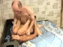 Amateur couple sex vid of me getting boned by old guy