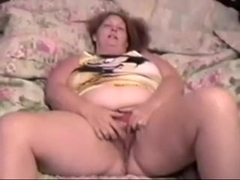 Non-Professional white large adorable mother lady fingering herself on the daybed