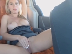 Texas Blonde Car Masturbation