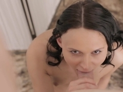 Horny pornstar in Incredible Brunette, Small Tits porn movie
