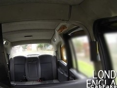 Huge tits British amateur fucking in cab public voyeur