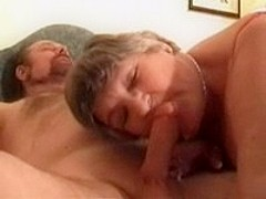 Granny does a BJ