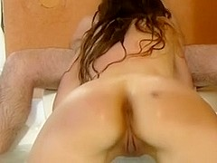 My wife showing her wazoo during the time that engulfing my strapon