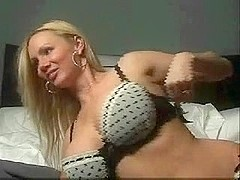 Large breasty blond on home webcam