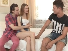 Edward & Argentina & Jura in Fucking On Her BoyfriendS Lap - SellYourGF