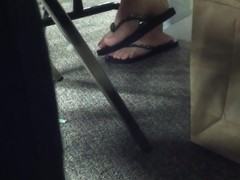 Candid Sexy Feet in Flip Flops