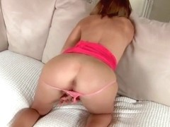 Kasey Chase is fingering her cunt on tape