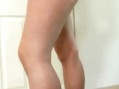 The audition for young naughty chick with small pretty boobs