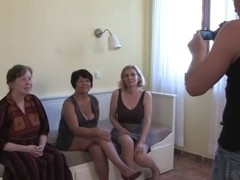 three Grannies Engulf and Fuck a Youthful 10-Pounder and Every Other