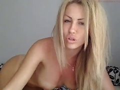 Showing how I fondle my beaver in amateur blonde clip