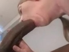 Very Cute Slim Legal Age Teenager Takes On A Large Dark Pecker !