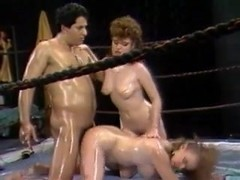 Oiled Catfight Training
