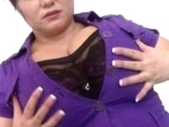 Hot and sexy busty mature mom with hungry cunt